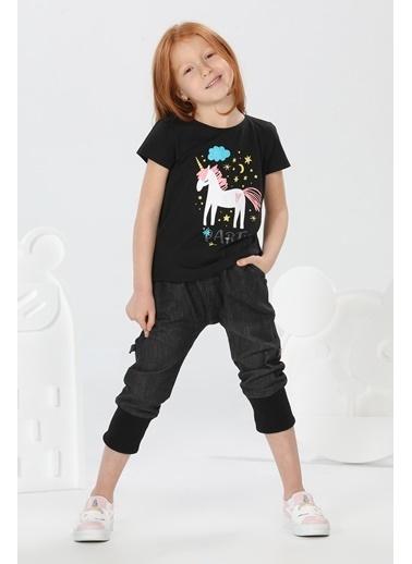 Lupiakids Unicorn Siyah Kot+Tshirt Takım Renkli